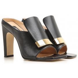 Sandales à talons hauts Sergio Rossi en cuir noir