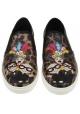 Basket slips-on Dolce&Gabbana femme en cuir emprimé leopard