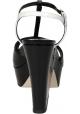 Sandales à plateforme Sergio Rossi en cuir verni noir