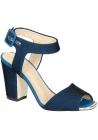 Sandales à talons Zanotti en tissu Bleu foncé