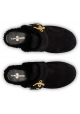 Sabots Car Shoe pour femme en cuir de mouton noir