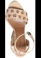 Sandales compensées Alaïa en cuir velours Peau