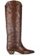 Bottes western Isabel Marant en Cuir veau marron