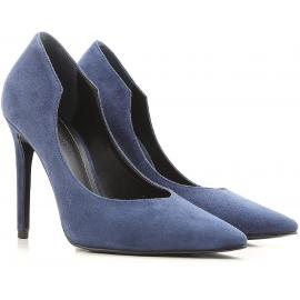 Chaussures à talon Kendall+Kylie en daim bleu marine
