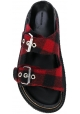 Nu-pieds Isabel Marant en tissu rouge/noir