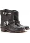 Boots western Golden Goose en veritable cuir noir