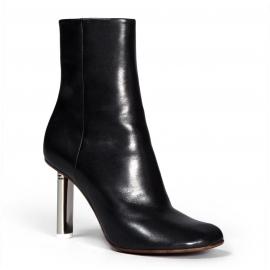 Boots à talon metallique Vetements en cuir noir