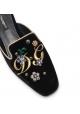 Nu-pieds Dolce&Gabbana pour femme en velours noir