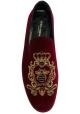 Mocassins Dolce&Gabbana homme en velours bordeaux