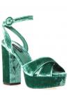 Sandales àplateforme Dolce&Gabbana en velours vert