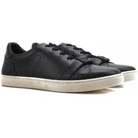 Sneakers Dolce&Gabbana homme en cuir veau noir