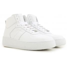 Baskets montantes Maison Margiela homme en cuir blanc