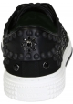 Baskets Valentino pour homme en toile noir avec gujon