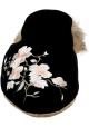 Pantoufles avec fourrure Gia Couture en velours noir