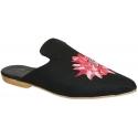 Nu-pieds plates Gia Couture pour femme en tissu noir