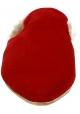 Nu-pieds avec fourure Gia Couture en velours rouge