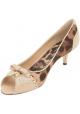 Escarpins à bout ouvert Dolce&Gabbana en cuir beige et tissu