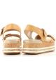 Sandales compensée plates Hogan en cuir nude
