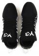 Baskets Kusari Y3 homme en cuir et tissue noir