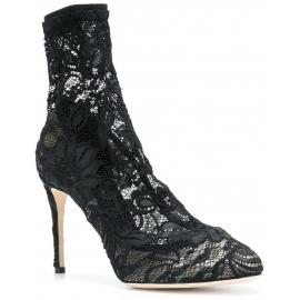 Chaussures àtalon Dolce&Gabbana en satin noir