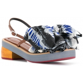Sandales àtalons Marni avec grand noeud en tissu