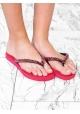 Nu-pieds tongs Uzurii femme en gomme rouge