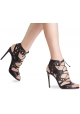 Sandales à talons hauts Casadei femme en cuir noir