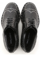 Chaussures àlacets Dolce&Gabbana homme en cuir perforé noir
