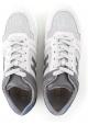 Sneakers Hogan homme en cuir gris et blanc cassé