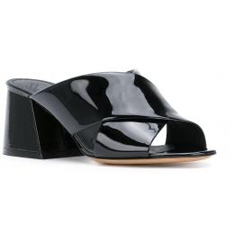 Sandales àtalons hauts Maison Margiela en vernì noir