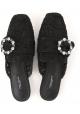 Nu-pieds fermé Dolce&Gabbana en satin noir