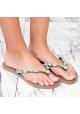 Tongs Uzurii pour femme en gomme couleur taupe