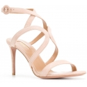Sandales àtalons Aquazzura en peau retournée rose