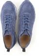 Sneakers Hogan pour homme en cuir retournée bleu