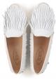 Mocassins Tod's pour femme en cuir retournée blanc
