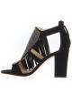 Sandales à talons hauts Zanotti en daim noir