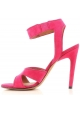 Sandales à talon haute Givenchy en chamois fuxia