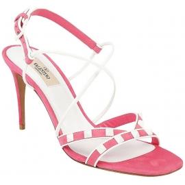 Sandales àtalons hauts Valentino en peau retournée rose