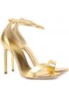 Sandales àtalons hauts Saint Laurent en cuir lamé or