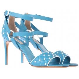 Sandales àtalons hauts Valentino en cuir azur