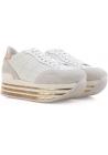 Sneakers compensée Hogan en cuir veritable blanc