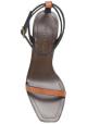 Sandales à talons hauts Saint Laurent en cuir marron