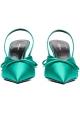 Sandales fermé à bride arrière Balenciaga en satin vert