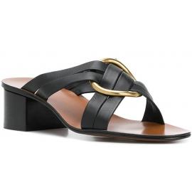 Sandales àtalons Chloé en cuir noir