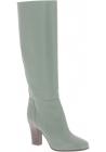 Valentino Bottes genoux femme en cuir Vert Olive