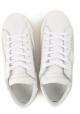 Philippe Model Baskets pour femmes en cuir blanc avec perles argentées