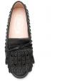 Tod's Mocassins femme en cuir noir avec clous assortis