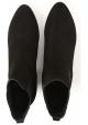 Hogan bottines à talons pour femmes en daim noir