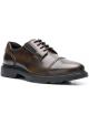 Hogan H393 MEMORY Chaussures à lacets homme en cuir Marron moyen