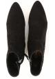 Tod's CUOIO STIV Bottines en daim noir pour femmes avec bout pointu et talon bas